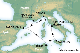 MSC Sinfonia 7 Nights Mediterranean