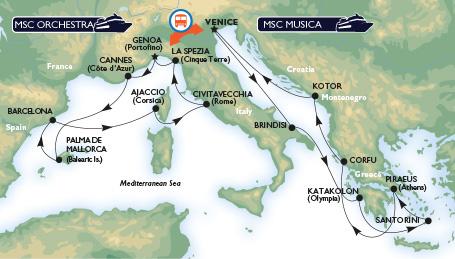 MSC Grand Mediterranean Cruises